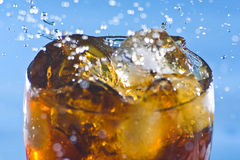 Splash refreshment soda cold drink Royalty Free Stock Photo
