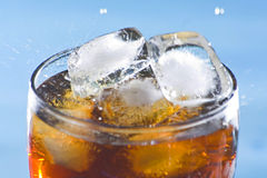 Splash refreshment soda cold drink. Ice splash refreshment soda cold drink isolated Royalty Free Stock Photos