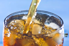 Splash refreshment soda cold drink Royalty Free Stock Images