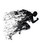 Splash runner silhouette, ink running man Royalty Free Stock Photography