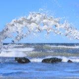 Splash on sea background royalty free stock images