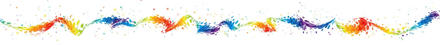 Splash seamless colorful wavy line Stock Photos