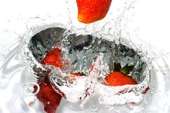 Splash-serie: strawberry Royalty Free Stock Image