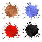 Splash set. Collection of splash. Coffee Blood Ink Paint Royalty Free Stock Photos