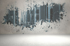 Splash showing cityscape Stock Photos