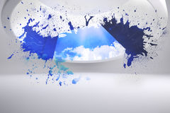 Splash showing cloud computing Stock Photo