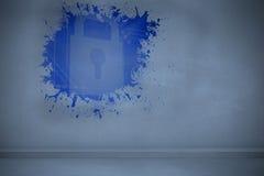 Splash showing digital lock Stock Photography