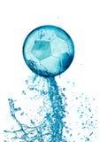 Splash soccer balll isolated Stock Photography