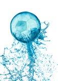 Splash soccer balll isolated Stock Photo