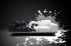 Splash sofa Royalty Free Stock Photos