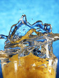 Splash and spray water. Royalty Free Stock Image