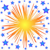Splash stars Royalty Free Stock Photos