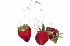 Splash strawberry Stock Photo
