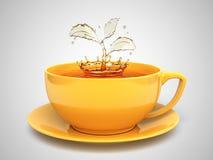 Splash of the tea Stock Image