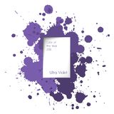 Splash text box. Ultra violet color. Of the year Royalty Free Illustration