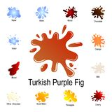 splash of turkish purple rice icon. Detailed set of color splash. Premium graphic design. One of the collection icons for websites stock illustration