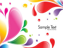 A splash of various colors Stock Photography