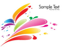 A splash of various colors Stock Image