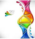 Splash in various colours . Vector Stock Photos
