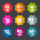 Splash Vector Discount Labels Set Stock Photos