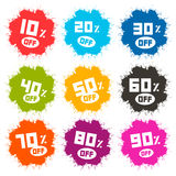 Splash Vector Discount Labels Set Royalty Free Stock Photo