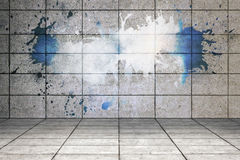 Splash on wall revealing cloud Stock Photography