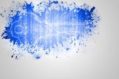Splash on wall revealing digital key Stock Images