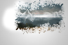 Splash on wall revealing energy wave Royalty Free Stock Photography