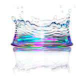 Splash of Water. Close up of a splash of water in the shape of a crown Royalty Free Stock Photography