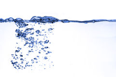 Splash water. On white background Royalty Free Stock Photos