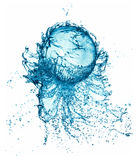 Splash water ball isolated Stock Photo