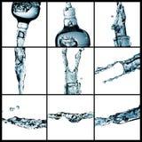 Splash water collage Stock Photos