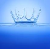 Splash - water crown Royalty Free Stock Image