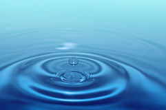 Splash water drop Stock Images