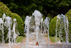 Splash of water in the fountain Royalty Free Stock Photos