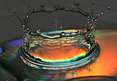 Splash of water is frozen. By means of flash stock image
