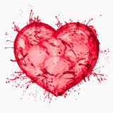 Splash of water, the heart Royalty Free Stock Photography