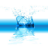 Splash water isolated on white Royalty Free Stock Photos