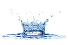 Splash water. Isolated on a white background Royalty Free Stock Photos