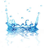 Splash water. Isolated on a white background Royalty Free Stock Images