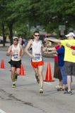 Splash. Water line at the Peoria IL Marathon Stock Photo