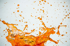 Splash. This water splash orange color Royalty Free Stock Image