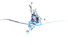 Splash of water of psychedelic blue colors Stock Images