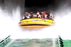 Splash water ride Royalty Free Stock Image