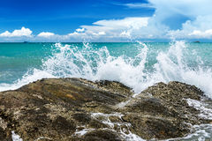 Splash water of sea wave . Stock Photography