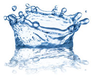 Splash of water in the shape of crown. Clipping paths. Splash of water in the shape of crown. File contains clipping paths Royalty Free Stock Photo