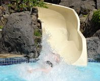 Splash from water slide Royalty Free Stock Photos