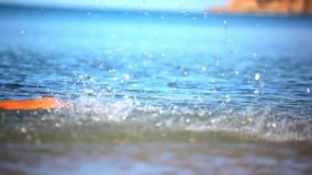 Splash of water spraying into the sky. Video stock video footage