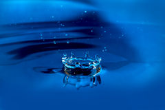 Splash on a water surface. Frozen motion. Royalty Free Stock Photo