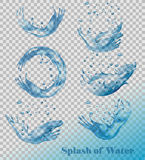 Splash of water on transparent background. Stock Images